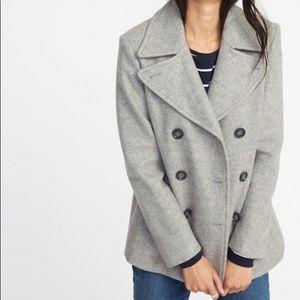 NWOT Old Navy light gray pea coat